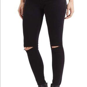 Topshop Moto Leigh Black Jeans